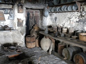An old style (in other words, medieval) kitchen in the Holy Monastery of Grand Meteoron.