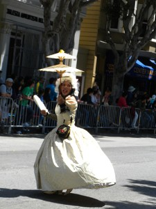 Every parade needs an Asian drag queen in historical costume.